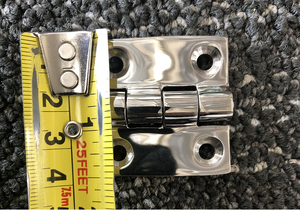 "DOOR HINGE, 1.5"" EQUAL - POLISHED 316 STAINLESS STEEL"