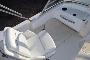 BOSTON WHALER 160 VENTURA, 180 VENTURA, and 17' DAUNTLESS DRIVER AND PASSENGER PEDESTAL CUSHIONS (BRIGHT WHITE)