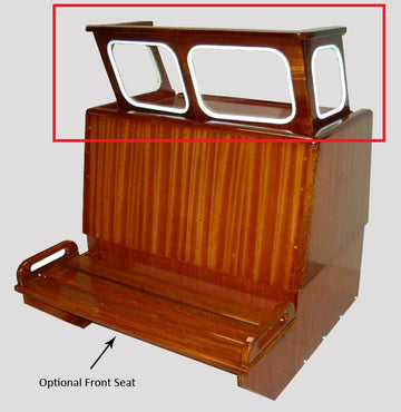 VARNISHED *WINDSHIELD ONLY* FOR EASTPORT, NAUSET MAHOGANY CENTER CONSOLE