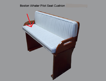 BOSTON WHALER 16'/17' NAUSET, SAKONNET OR EASTPORT PILOT SEAT CUSHION (BRIGHT WHITE)