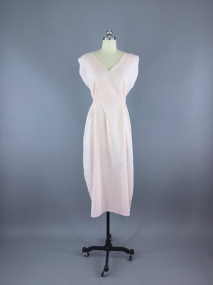 1920s Nightgown / Pink Cotton Batiste - ThisBlueBird