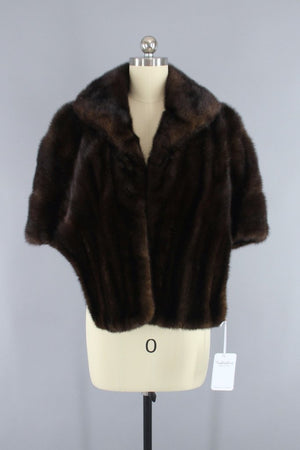 Vintage 1960s Brown Fur Wrap - ThisBlueBird