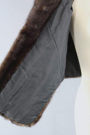 1960s Chocolate Brown Vintage Fur Stole Wrap Outerwear ThisBlueBird
