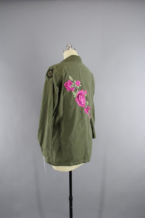 1970s Vintage Embroidered Army Camouflage Jacket - ThisBlueBird