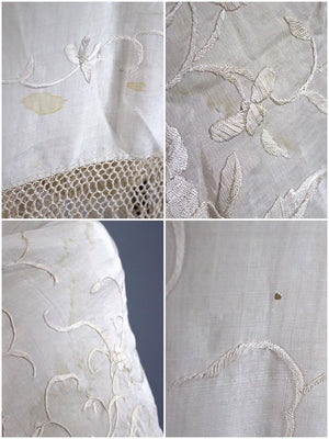 Antique Silk Embroidered Piano Shawl-ThisBlueBird - Modern Vintage