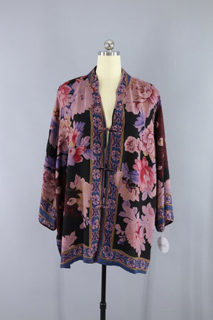 Asian Inspired Silk Georgette Jacket / Citron Santa Monica Outerwear ThisBlueBird