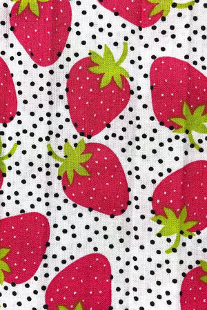 Cotton Washable Face Mask - Strawberries-ThisBlueBird - Modern Vintage