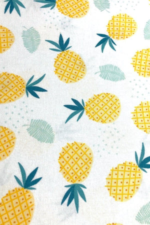Cotton Washable Face Mask - White Pineapples-ThisBlueBird - Modern Vintage