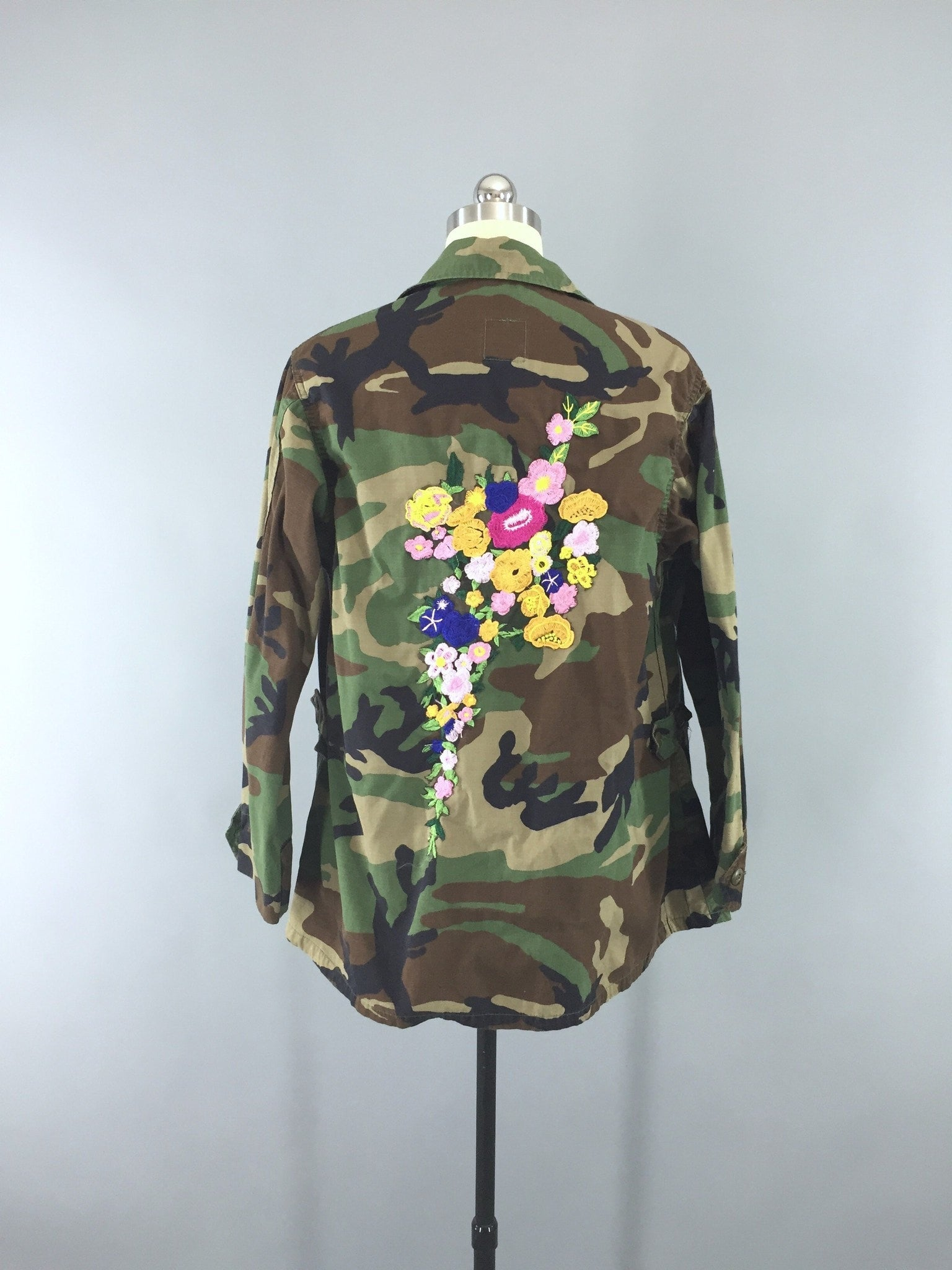 Embroidered US Army Camouflage Jacket Women s Military Coat c37e93110