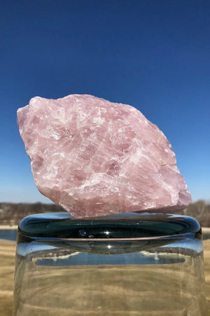 Giant Rough Rose Quartz Boulder - ThisBlueBird
