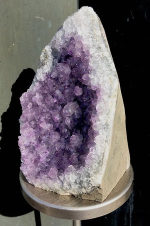 Large Natural Purple Amethyst Druzy Cluster with Cut Base-ThisBlueBird - Modern Vintage