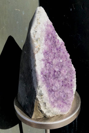 Large Natural Purple Amethyst Druzy Cluster with Cut Base - ThisBlueBird
