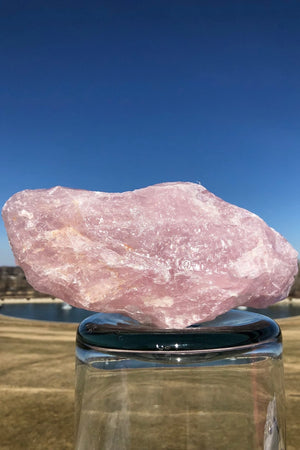 Large Rough Rose Quartz Crystal Rock - ThisBlueBird