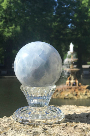 Natural Blue Calcite Crystal Sphere-ThisBlueBird - Modern Vintage