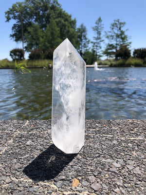 Natural Clear Quartz Crystal Tower Point-ThisBlueBird - Modern Vintage