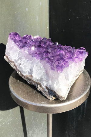 Natural Purple Amethyst Druzy Cluster Slice - ThisBlueBird