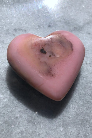 Pink Opal Heart Pocket Stone-ThisBlueBird - Modern Vintage
