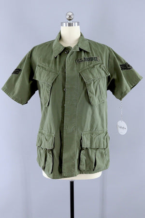 Rare Vintage 1968 US Air Force Jungle Shirt-ThisBlueBird - Modern Vintage