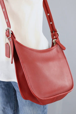 Red Leather Coach Janice Bag / B06D 9950-ThisBlueBird - Modern Vintage