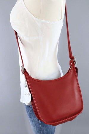Red Leather Coach Janice Bag / B06D 9950 - ThisBlueBird