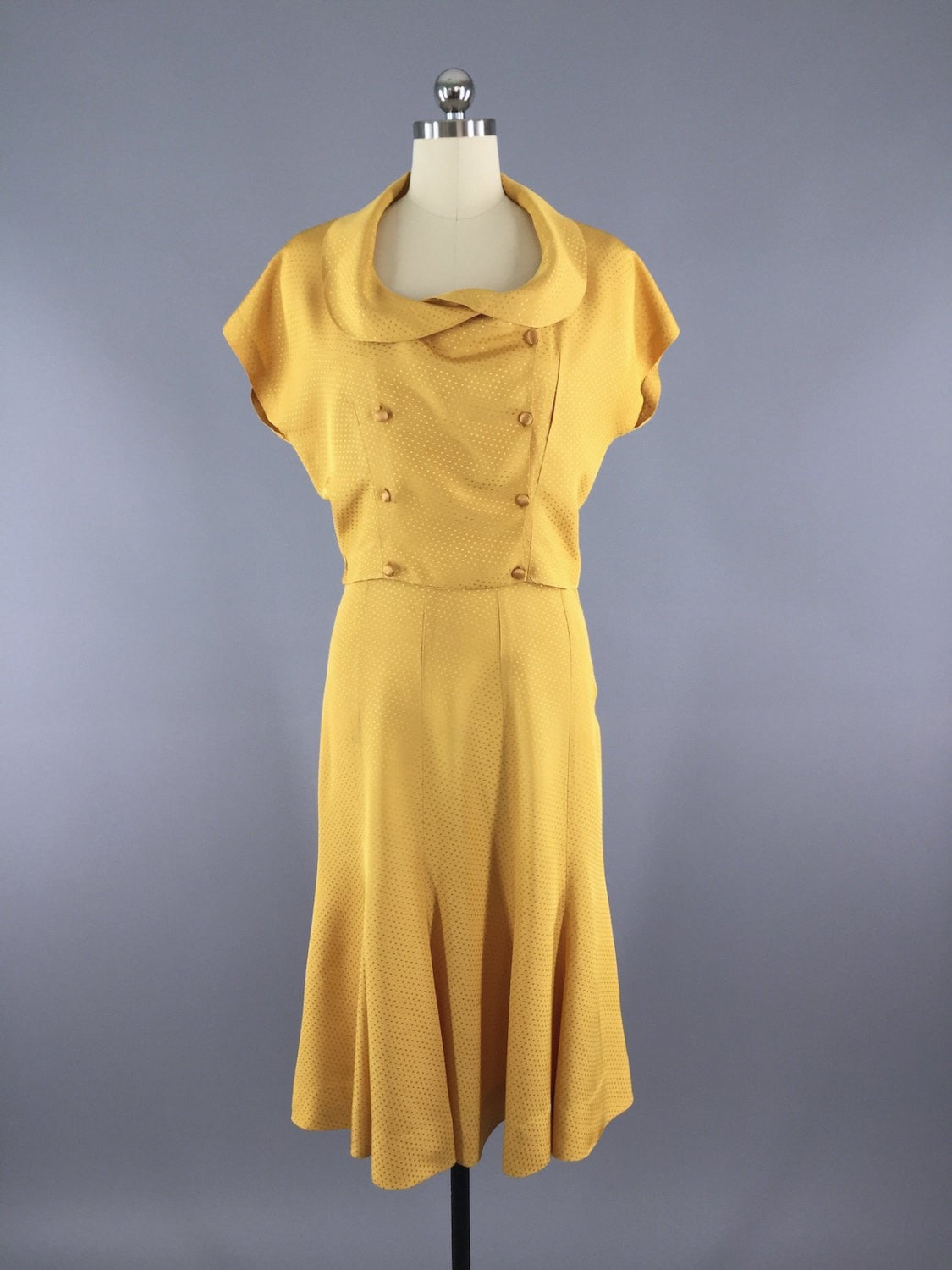Vintage 1930s Day Dress / Skirt & Blouse Set Dress ThisBluebird