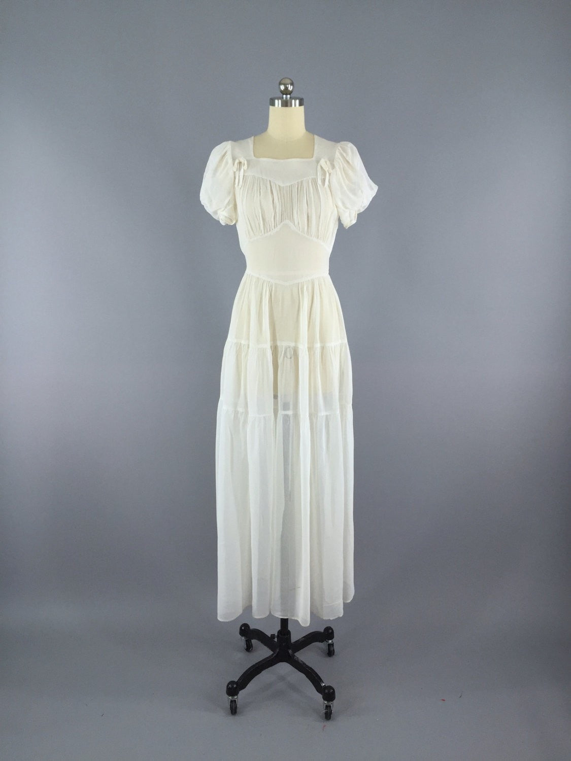 Vintage 1930s Dress / 30s Vintage Wedding Dress Dress ThisBlueBird