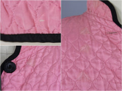 Vintage 1940s Bed Jacket / Carnation Pink Quilted Rayon Lingerie ThisBlueBird