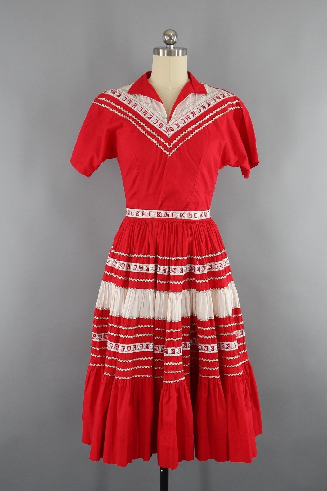Vintage 1940s Square Dance Dress from Bogarts Fort Worth Texas Dress ThisBlueBird