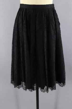 Vintage 1950s Black Lace Party Skirt-ThisBlueBird - Modern Vintage