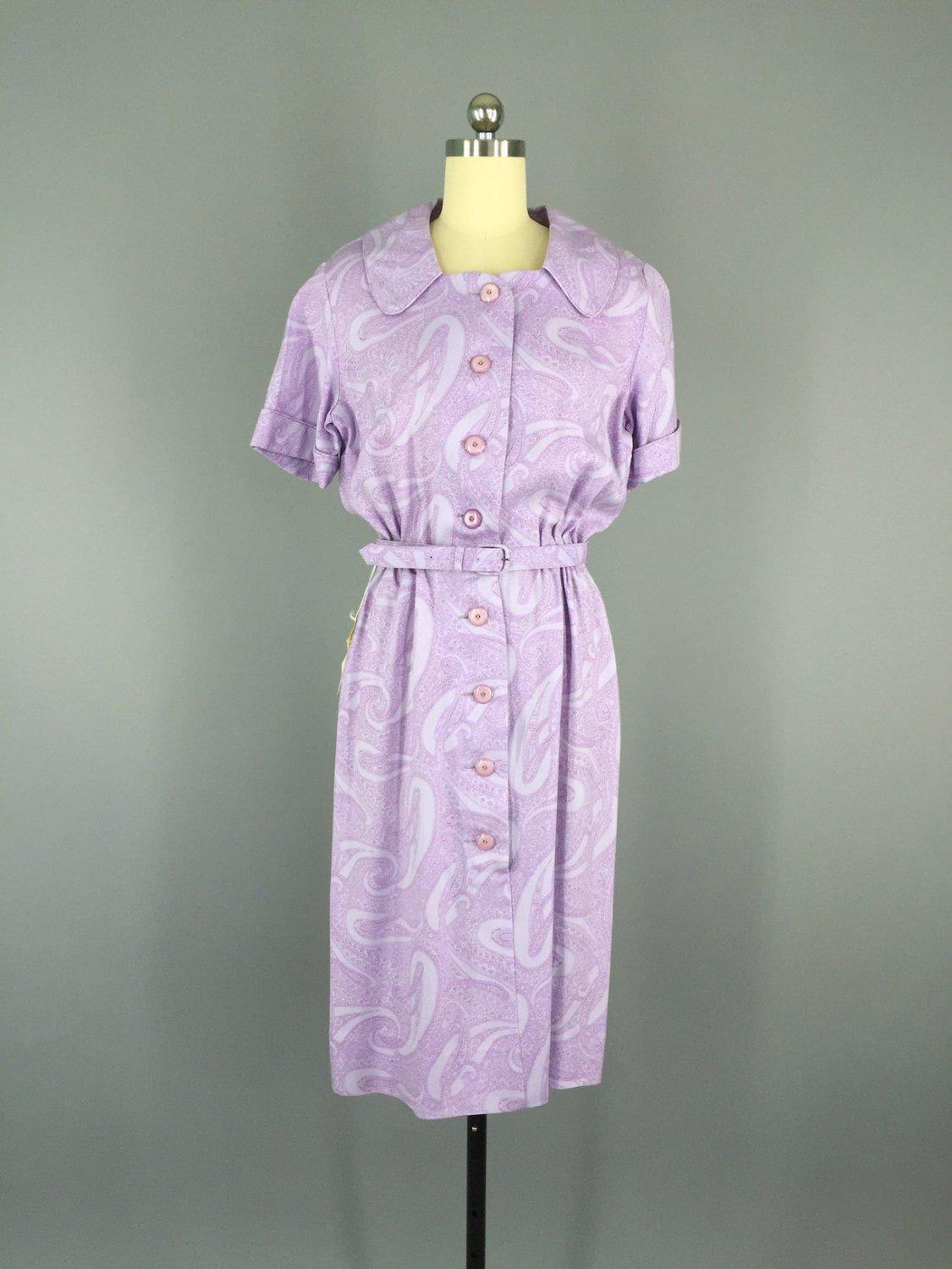 Vintage 1950s Nelly Don Day Dress Dress ThisBlueBird - Sale