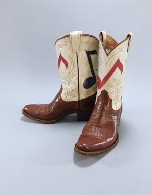 Vintage 1940s - 1950s Olsen-Stelzer Boots / Musical Notes / Custom Made - ThisBlueBird