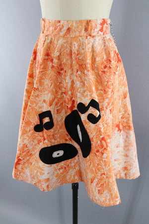 Vintage 1950s Records & Music Novelty Circle Skirt - ThisBlueBird