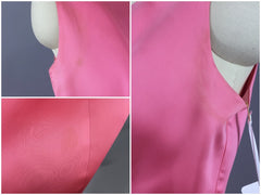 Vintage 1960s Dress / Pink Satin Party Dress Dress ThisBlueBird