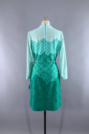 Vintage 1960s Green Segaiha Day Dress - ThisBlueBird
