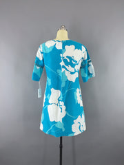 Vintage 1960s Hawaiian Dress / Malhini Aloha Floral Print Dress ThisBlueBird