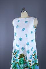Vintage 1960s Hawaiian Pineapple Print Dress Dress ThisBlueBird