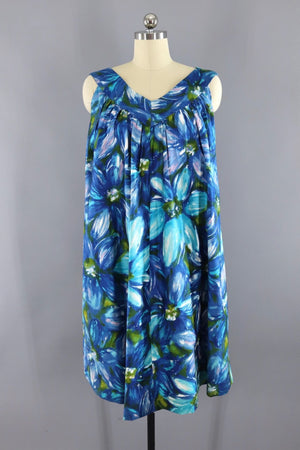 Vintage 1960s Hawaiian Print Aloha Dress - ThisBlueBird