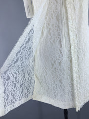 Vintage 1960s Ivory Lace Shift Dress Dress ThisBlueBird