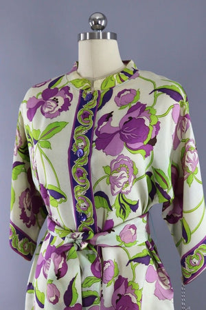 Vintage 1960s Mod Floral Micro Mini Tunic
