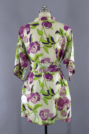 Vintage 1960s Mod Floral Micro Mini Tunic Dress-ThisBlueBird - Modern Vintage