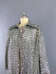 Vintage 1960s Sequined Trench Coat Outerwear ThisBlueBird