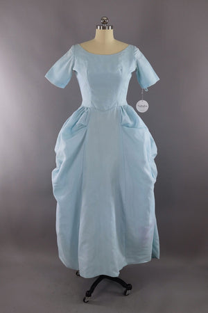 Vintage 1960s Sky Blue Formal Gown - ThisBlueBird