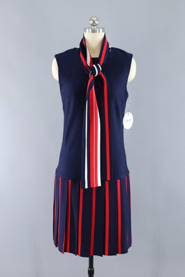 0a81e0fa3bd7 Vintage 1960s Summer Dress / Red White and Blue