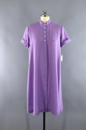 Vintage 1970s Purple Day Dress / Maternity Dress-ThisBlueBird - Modern Vintage