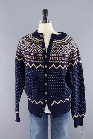 Vintage 1970s Wool Swedish Fair Isle Sweater-ThisBlueBird - Modern Vintage