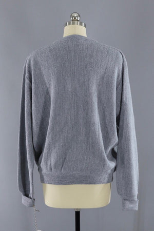 Vintage 1989s Grey Izod V-Neck Sweater - ThisBlueBird