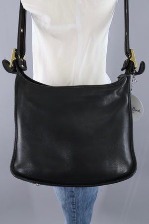 Vintage Black Leather Coach Bag / Style J8D 9966-ThisBlueBird - Modern Vintage