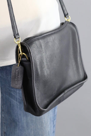 Vintage Black Leather Coach Crossbody Bag B2P 9455-ThisBlueBird - Modern Vintage