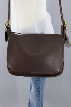 Vintage Brown Leather Coach Messanger Bag / G8P 9951-ThisBlueBird - Modern Vintage