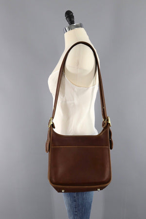 Vintage Coach Bag Saddle Brown Leather Style DOD 9966-ThisBlueBird - Modern Vintage
